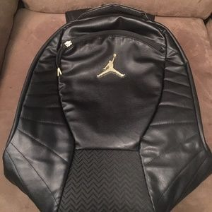 Black Gold Nike Air Jordan Sports Backpack Men's